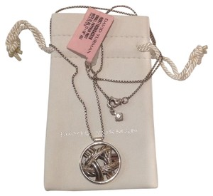 David Yurman Pave Diamond Papyrus Pendant With Chain. Comes With Pouch.