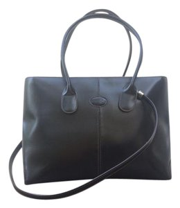 Tod's Leather Tote in Dark Chocolate Brown