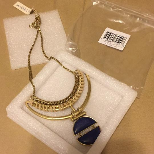 Lucky Brand Blue Lapis Stone Suede Pendant Gold-Tone Frontal JLRY3369 Image 1