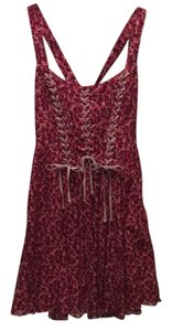 Free People short dress Pink and red floral on Tradesy