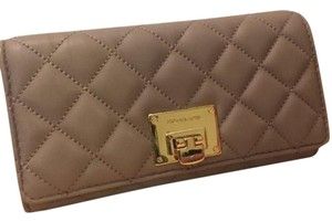 Michael Kors Michael Kors ASTRID Carryall Quilted Leather Wallet-DARK TAUPE NWT