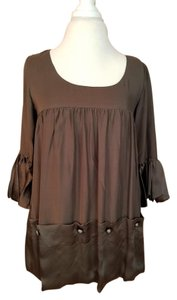 Anthropologie Dress Spring Top brown