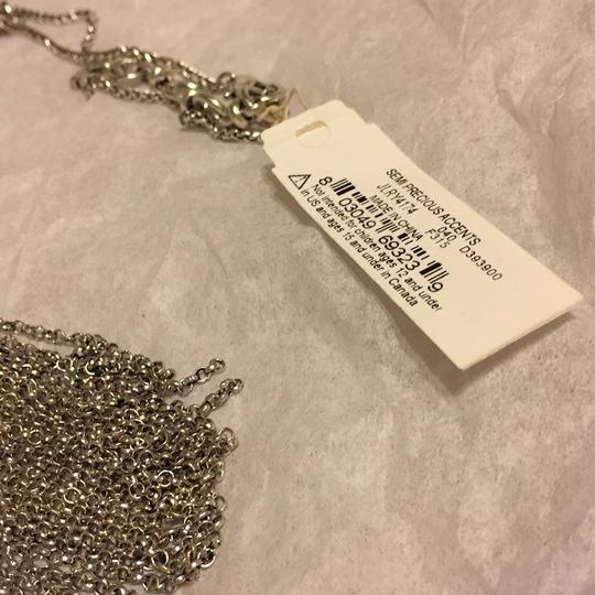 Lucky Brand NWT Fringe Silver Turquoise Pendant JLRY 4174 Image 2