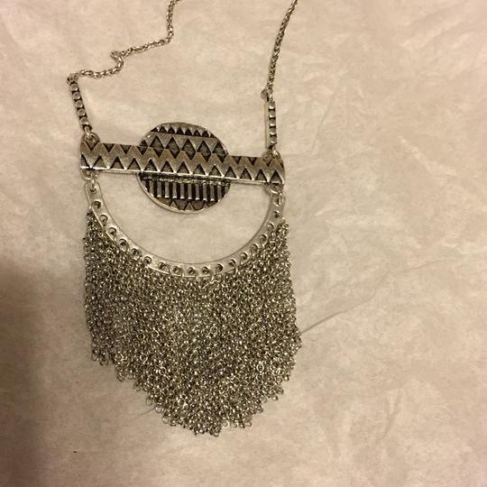 Lucky Brand NWT Fringe Silver Turquoise Pendant JLRY 4174 Image 3