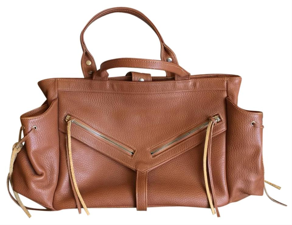 Botkier Leather Brown Trigger Tote Saddle rZqrxH