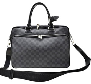 Louis Vuitton Damier Canvas Graphite Messenger Icare Laptop Damier Ebene Travel Bag