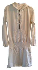 James Perse short dress Ivory Hooded on Tradesy