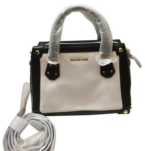 MICHAEL Michael Kors Satchel in Black & White