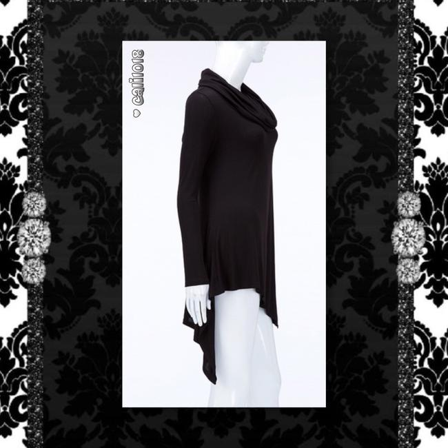 Other Lace Up Turtleneck Asymmetrical Long Sleeve Sweater Image 1