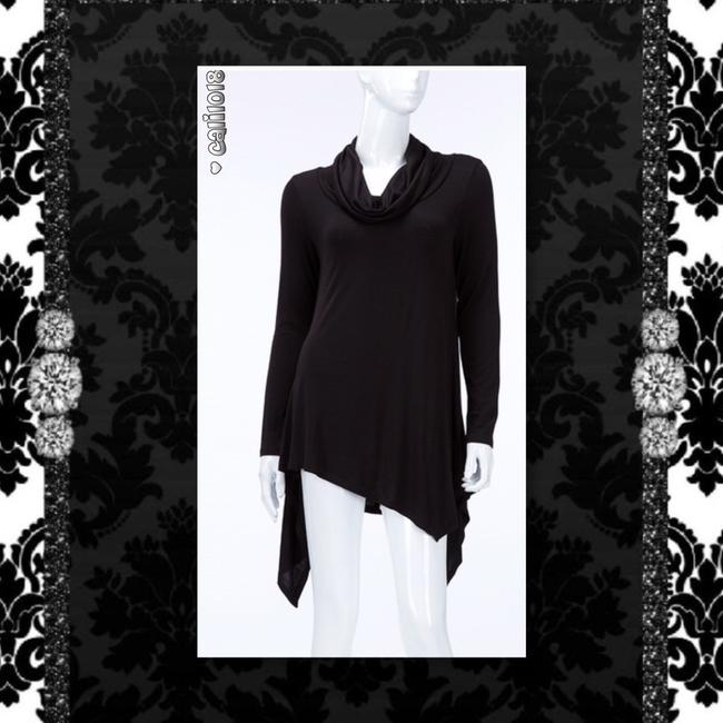 Other Lace Up Turtleneck Asymmetrical Long Sleeve Sweater Image 2