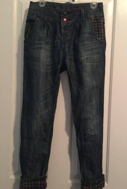 Desigual Relaxed Fit Jeans-Dark Rinse Image 4