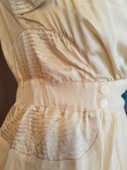 Anthropologie Button Spring Top peach Image 2