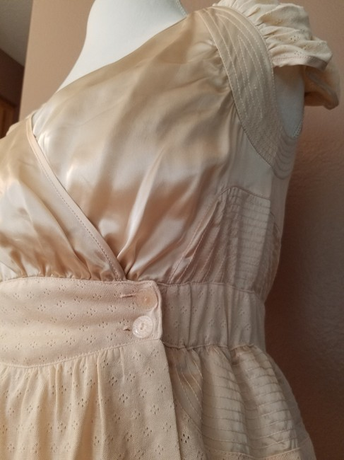 Anthropologie Button Spring Top peach Image 3