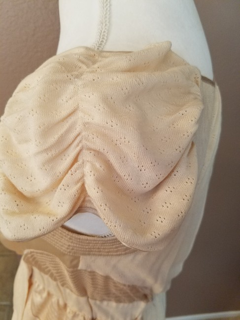 Anthropologie Button Spring Top peach Image 5
