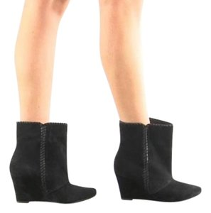 Charles by Charles David Bootie Suede Wedge Boot Black Boots
