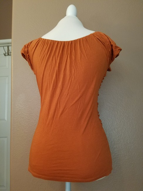 Anthropologie Summer T Shirt dark orange Image 3