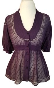 Anthropologie Shirt Top purple