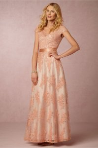 BHLDN Rose/Peach Gown Dress