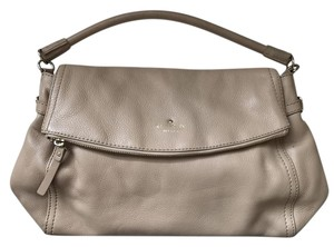 Kate Spade Pebbled Leather Neutral Satchel in Affogato