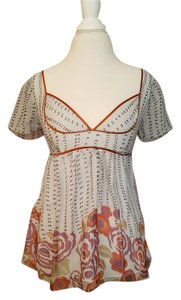 Anthropologie Graphic Top gray