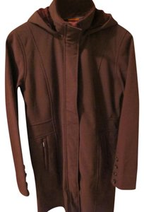 Merrell Maroon Wind Resistance Softshell Trench Coat