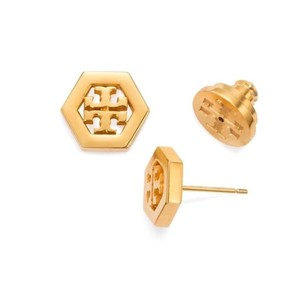 Tory Burch Hex Logo Stud Earrings