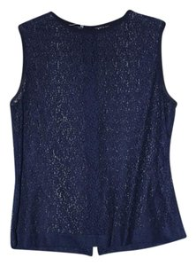 Equipment Nordstrom Lace Sleeveless Top blue