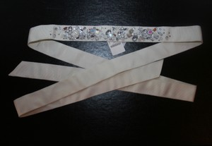 J.Crew J.Crew Jeweled Wave Sash Ivory