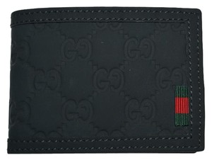 Gucci NIB GUCCI MEN'S NEOPRENE RED GREEN WEB MINI GG GUCCISIMA WALLET