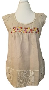 Anthropologie Linen Dress Jeweled Tunic