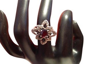 Other Garnet and Marcasite Sterling Silver Ring
