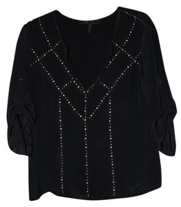 BCBGMAXAZRIA Bcbg Studs Silk Top black
