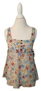 Anthropologie Floral Summer Spring Top multi