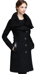 Mackage Wool Leather Pea Coat