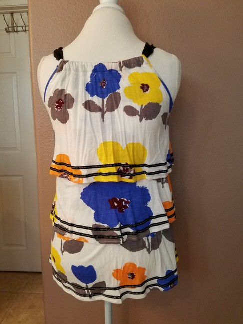 Anthropologie Ruffle Floral Print Summer Top multi Image 3