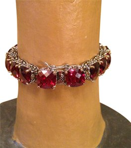 Other Ruby red oversized crystal tennis bracelet-SALE
