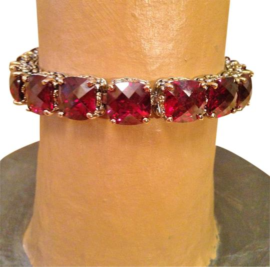 Other Ruby red oversized crystal tennis bracelet-SALE Image 1