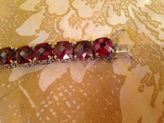 Other Ruby red oversized crystal tennis bracelet-SALE Image 2