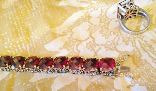 Other Ruby red oversized crystal tennis bracelet-SALE Image 5