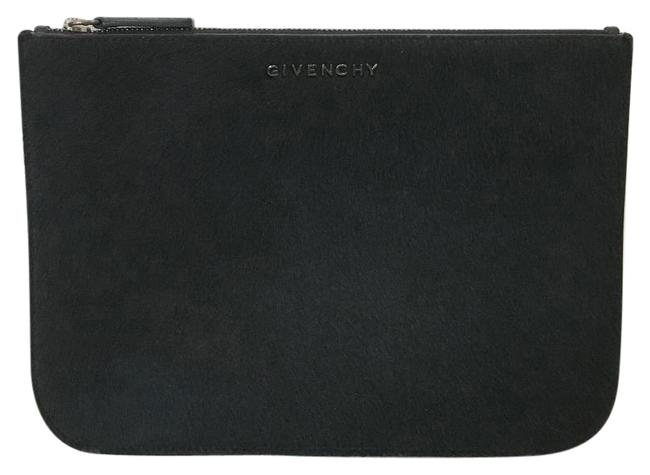Item - Pony Small Pouch Black Calf Hair Leather Clutch