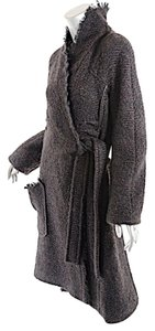 Sonia Rykiel Vintage Chevron Tweed Shawl Trench Coat