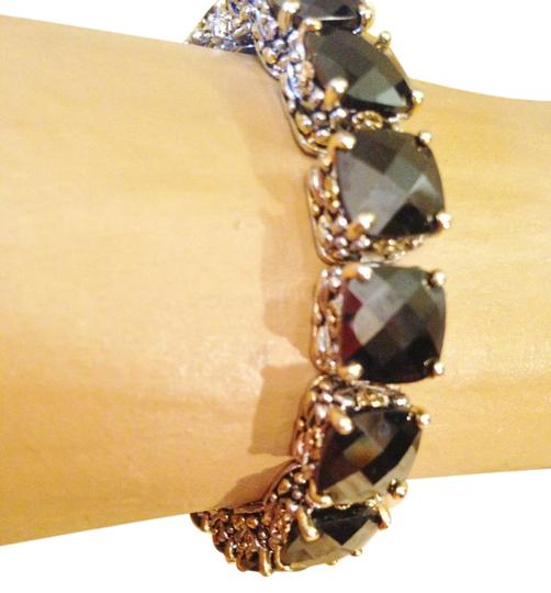 Other Gorgeous oversize Oynx crystal tennis bracelet-sale! Image 0