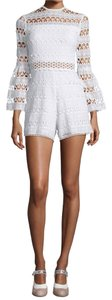 Alexis Lace Romper Romper Dress