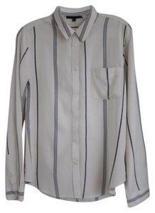 Sanctuary Clothing Casual Fridays Relaxed Brunch Off Duty Button Down Shirt Off-White