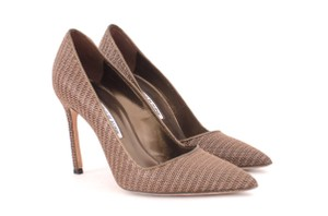 Manolo Blahnik Bb 105 Brown Pumps