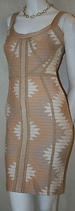 Hervé Leger Arizona Apricot Ice Cocktail Dress