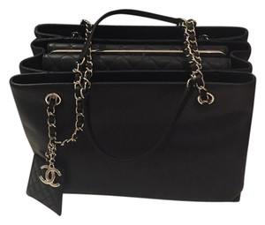 Chanel Large Shopping Tote in Black