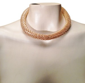 Other round mesh gold choker