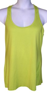Athleta Active Wear Running Workout Zumba Top Neon Yellow, High Visibility