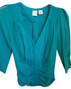 A|X Armani Exchange Turquoise Top teal
